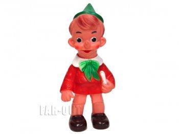 ピノキオ 本を持つ ソフトビニール フィギュア ドール 人形 ヴィンテージ ディズニー