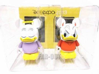 D23 Expo USA 2013 バイナルメーション ドナルド Donald's Better Self 天使と悪魔 フィギュア 2体セット ディズニー Disney Vinylmation