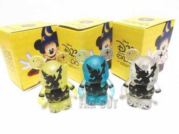 D23 Expo USA 2013 バイナルメーション ソーサラーミッキー イエロー、ブルー、クリア フィギュア 3点セット ディズニー Disney Vinylmation