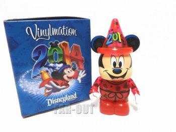 ディズニー バイナルメーション 2014 レッド帽 クリアボディー ソーサラーミッキー フィギュア Disney Vinylmation