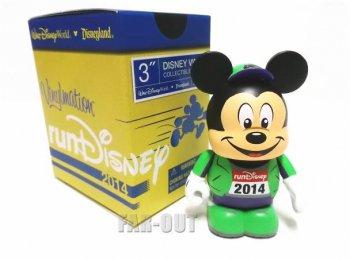 バイナルメーション runDisney 2014 ラン・ディズニー ミッキー グリーン マラソン走者 フィギュア Disney Vinylmation  【セール】