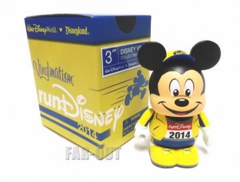 バイナルメーション runDisney 2014 ラン・ディズニー ミッキー イエロー マラソン走者 フィギュア Disney Vinylmation 【セール】