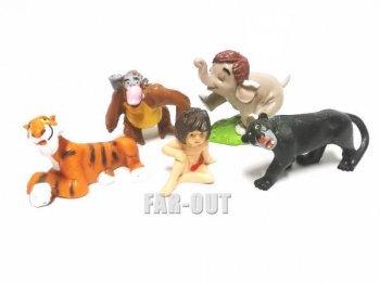 ジャングルブック PVCフィギュア 5点セット 1980年代 ディズニー Bully