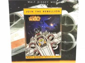 スター・ウォーズウィークエンド 2014 ロゴ ピンズ ミッキー X-Wing パイロット ルーク・スカイウォーカー STAR WARS ディズニー