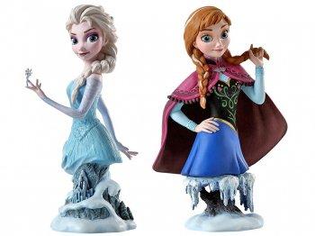 アナと雪の女王 アナ&エルサ ミニバスト 胸像 フィギュア 2点セット グランド・ジェスター・スタジオ Grand Jester Studios ディズニー フィギュアリン 【セール】