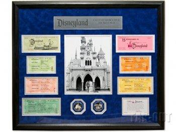 ディズニーランド 1955年 オープニング 復刻チケット メダル付き フレーム入り Disneyland Tickets & Coins Framed