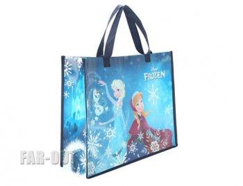 アナと雪の女王 アナ&エルサ w/ オラフ Loungefly ラウンジフライ ショッピング エコバッグ 横長サイズ ディズニー 鞄