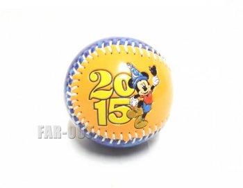 ディズニー野球ボール Disneyland 2015 ベースボール ミッキー 硬球 【セール】