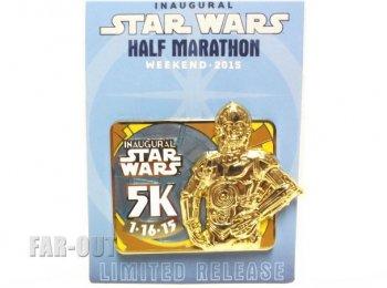 スター・ウォーズ ハーフ マラソン ウィークエンド C-3PO 5k runDisney 2015 ラン・ディズニー イベント記念 ピンズ STAR WARS