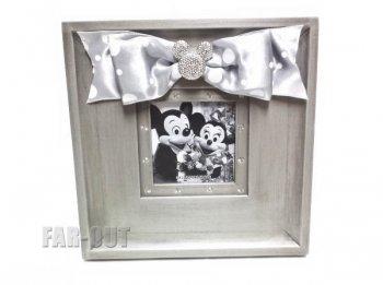 ミニーマウス w/ リボン ウェディング フォトスタンド フォトフレーム 写真立て テーマパーク版 ディズニー