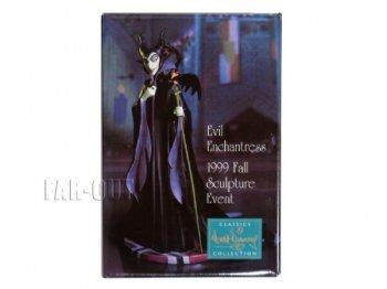 WDCC スリーピングビューティー マレフィセント Evil Enchantress 1999年 プロモーション 四角 缶バッジ 眠れる森の美女 缶バッチ ディズニー