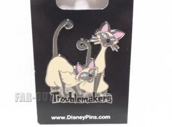 わんわん物語 レディ&トランプ シャム猫 サイとアム Troublemakers ピンズ ディズニー