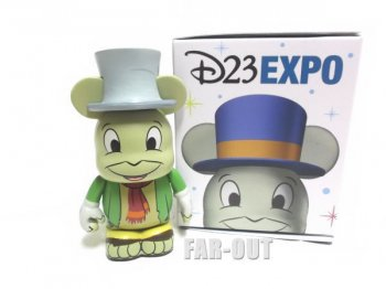 D23 Expo USA 2015 バイナルメーション ピノキオ75周年記念 ジミニー・クリケット グリーンジャケット フィギュア ディズニー Disney Vinylmation
