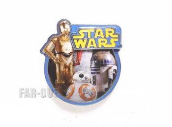 スター・ウォーズ/フォースの覚醒 BB-8 w/ R2-D2 C-3PO ドロイド ピンズ ディズニー