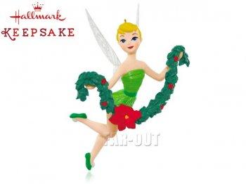 ホールマーク 2015 オーナメント ディズニーフェアリーズ ティンカー・ベル ひいらぎを飾る Tink the Halls ティンカーベル