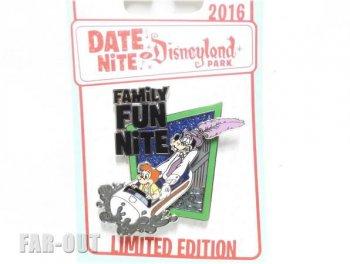 グーフィー&マックス Family Fun Nite Date Nite at Disneyland イベントピンズ ディズニーランド限定