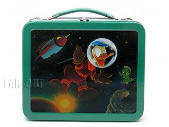 ドナルド 宇宙飛行士 ランチボックス TIN缶 復刻版 ホールマーク ディズニー
