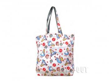 ふしぎの国のアリス トートバッグ 赤ドット w/マッシュルーム 不思議の国のアリス ディズニー 鞄