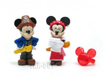 ミッキー&ミニー パイレーツ 海賊 PVCフィギュアセット 31アイスクリーム ディズニー