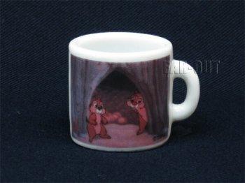 チップ&デール ガチャポン 陶器製 ミニマグカップ ディズニー チップとデール