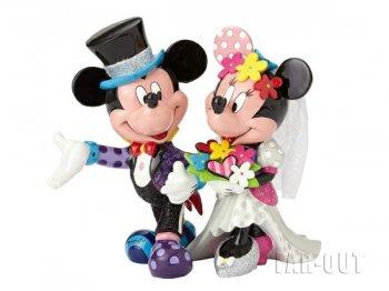 ロメロ・ブリット ミッキー&ミニー Mickey & Minnie Wedding フィギュア ウェディング 結婚式 ラージサイズ Disney by BRITTO カラフル ポップアート