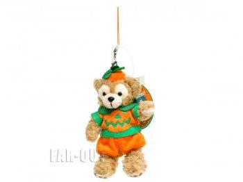 TDS 東京ディズニーシー ダッフィー ぬいぐるみ ストラップ ハロウィーン 2010年 かぼちゃ パンプキン服 Duffy