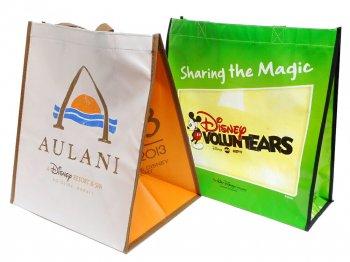 D23 Expo USA 2013 ショッピングエコバッグ 2点セット VOLUNTEARS 30周年記念&アウラニディズニー プロモーション D23エキスポ ボランティアーズ 鞄