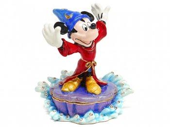 ソーサラーミッキー ジュエリー トリンケットボックス エナメルボックス フィギュア ディズニー ファンタジア 魔法使いの弟子 Sorcerer Mickey Jeweled Box