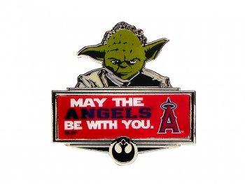 スター・ウォーズ ヨーダ ロサンゼルス エンゼルス オブ アナハイム ベースボール ピンズ ディズニーコラボ Angeles Star Wars Yoda Pin