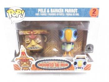 魅惑のチキルーム アトラクション ビニールフィギュア 2体セット ディズニーテーマパーク限定 Enchanted Tiki Room FUNKO POP ! Pele & Barker Parrot