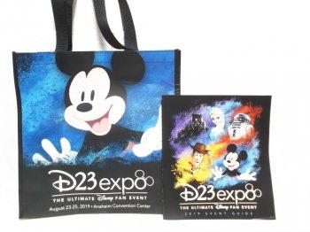 D23 Expo USA 2019 ガイドブック ショッピング エコバッグ 2点セット ディズニー D23エキスポ 鞄