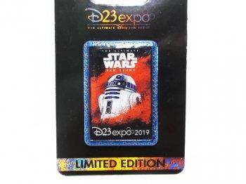 D23 Expo USA 2019 スター・ウォーズ R2-D2 ロゴアート ピンズ ディズニー D23エキスポ Star Wars Logo Pin