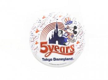 東京ディズニーランド 5周年記念 1988年 ミッキー 缶バッジ 缶バッチ TDL