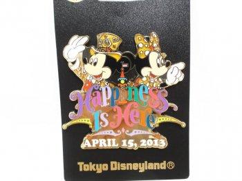 東京ディズニーランド 30周年記念 ミッキー&ミニー ピンズ ピンバッジ 2013年 Happiness is Here Pin TDL