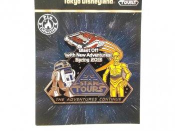 東京ディズニーランド スター・ウォーズ スターツアーズ リニューアルオープン記念 ピンズ C-3PO R2-D2 2013年 ピンバッジ スタースピーダー アトラクション STAR TOURS TDL