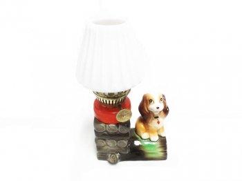 わんわん物語 レデイ&トランプ レディ 卓上ランプ ヴィンテージ フィギュアリン Lady Crown Oil Lamp Figurine