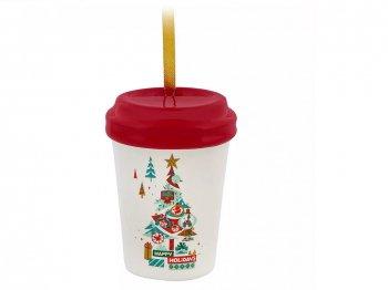 スターバックス コーヒー セラミック タンブラー オーナメント クリスマスツリー ディズニーテーマパーク限定 Starbucks Happy Holidays Ceramic Ornament