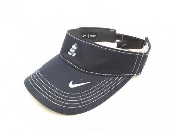 ミッキー Nike ナイキ サンバイザー ゴルフキャップ テニス 帽子 ダークブルー 刺繍 ディズニーテーマパーク限定