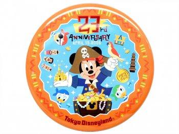 東京ディズニーランド 23周年記念 2006年 ミッキー w/ヒューイ、デューイ、ルーイ 缶バッジ TDL 缶バッチ