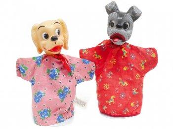 わんわん物語 レディ&トランプ ハンドパペット GUND 2点セット 1960年代 ヴィンテージ ディズニー Lady and the Tramp Hand Puppet