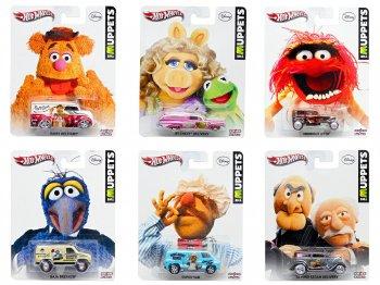 ホットウィール マペッツ メタルダイキャストカー 6点セット ディズニー ミニカー カーミット&ミス・ピギー、ゴンゾ、アニマル、フォジー・ベア、スウェディッシュ・シェフ、スタットラー&ルドルフ