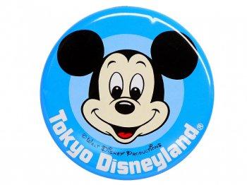 東京ディズニーランド ミッキー フェイス ブルー ベーシック 1983年 缶バッジ 缶バッチ TDL