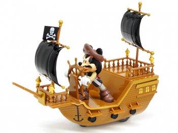 ミッキー パイレーツ・オブ・カリビアン 海賊船 プルバックカー フィギュア カリブの海賊 ディズニーテーマパーク限定