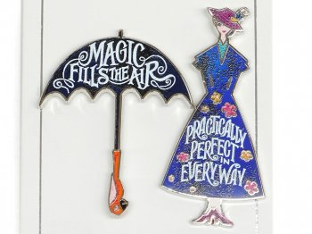 メリー・ポピンズ リターンズ メリーポピンズ&アンブレラ ピン 2点セット 映画公開記念 ディズニー Mary Poppins Returns