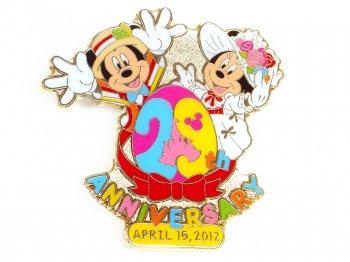 東京ディズニーランド 29周年記念 ミッキー&ミニー ピン 2012年 TDL限定 イースター メリー・ポピンズ
