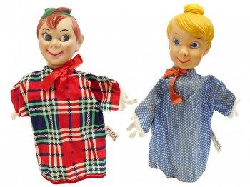 ピーターパン&ティンカー・ベル ハンドパペット GUND 2点セット 1960〜1970年代 ヴィンテージ ディズニー Hand Puppet