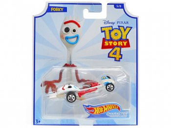 ホットウィール トイストーリー4 フォーキー メタルダイキャストカー ディズニー ミニカー TOY STORY 4 Hot Wheels Forky