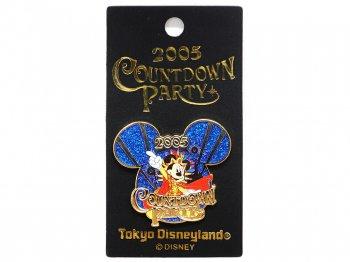 東京ディズニーランド 2005年 カウントダウンパーティー ミッキー ピンズ ピンバッジ TDL Pin