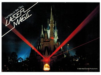 東京ディズニーランド レーザーマジック シンデレラ城 1984年 横型 ポストカード 絵葉書 絵はがき キャッスル TDL LASER MAGIC