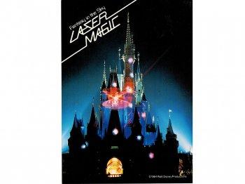 東京ディズニーランド レーザーマジック シンデレラ城 1984年 縦型 ポストカード 絵葉書 絵はがき キャッスル TDL LASER MAGIC